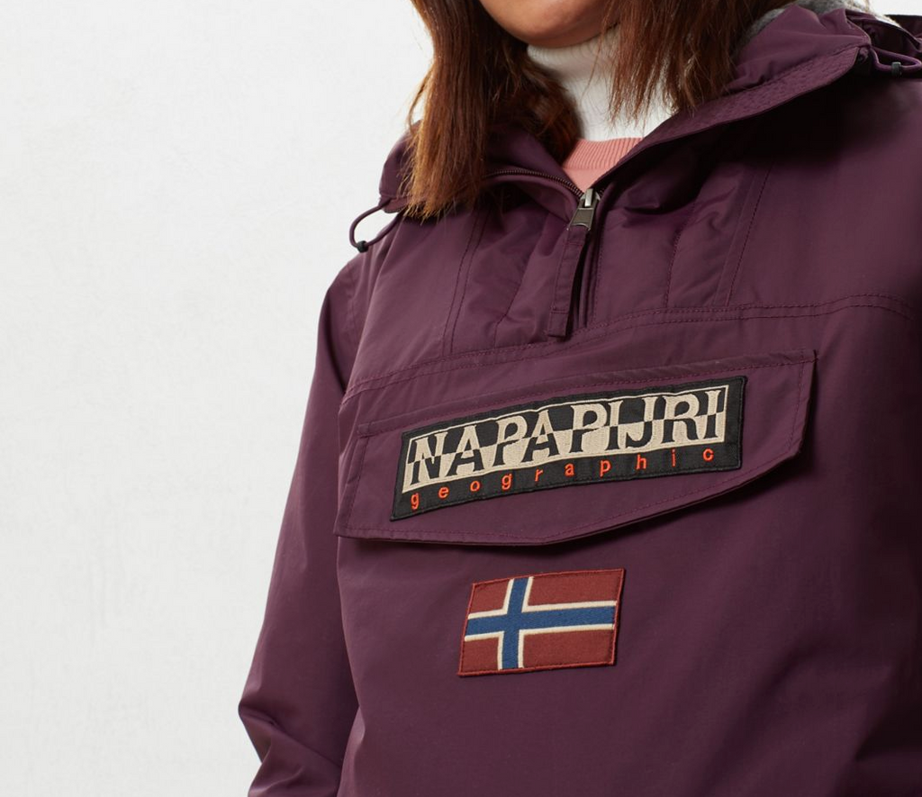 Napapijri Tribe Rainforest Pocket Jacket Purple Wine