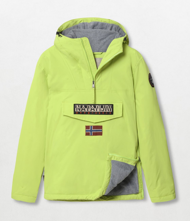 Napapijri Tribe Rainforest Winter Jacket Yellow Lime