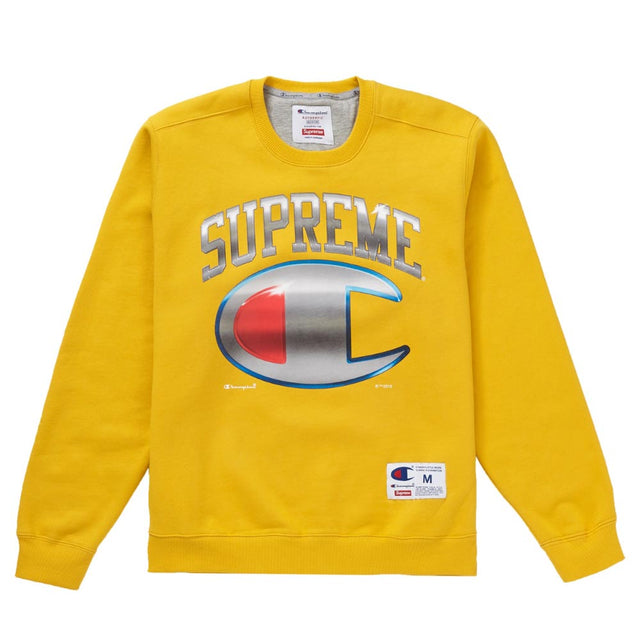 Supreme Champion Chrome Crewneck Gold