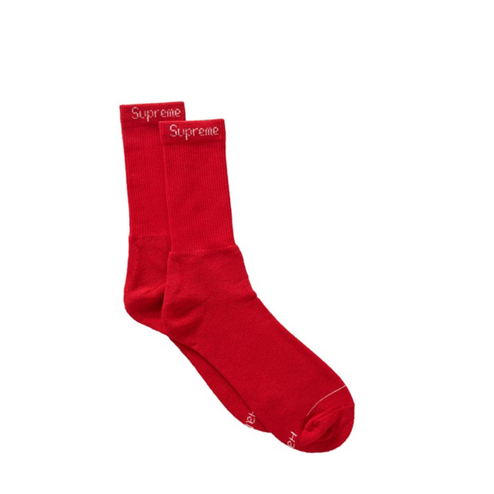 Supreme / Hanes Crew Socks Red (4 Pack)
