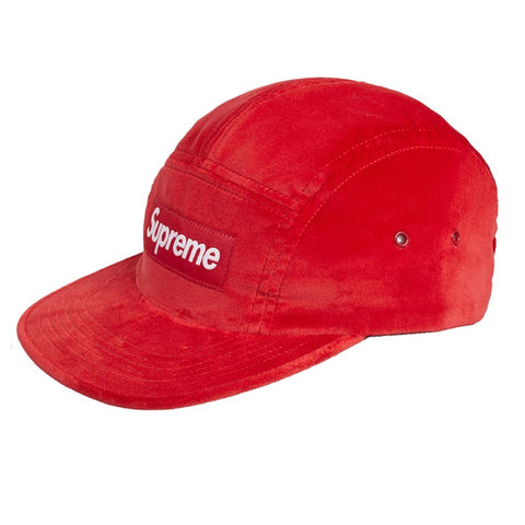 Supreme Velvet Camp Cap Red