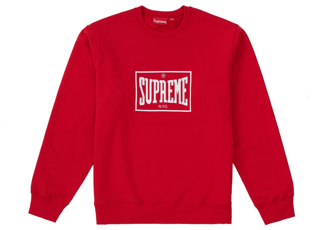 Supreme Warm Up Crewneck Red