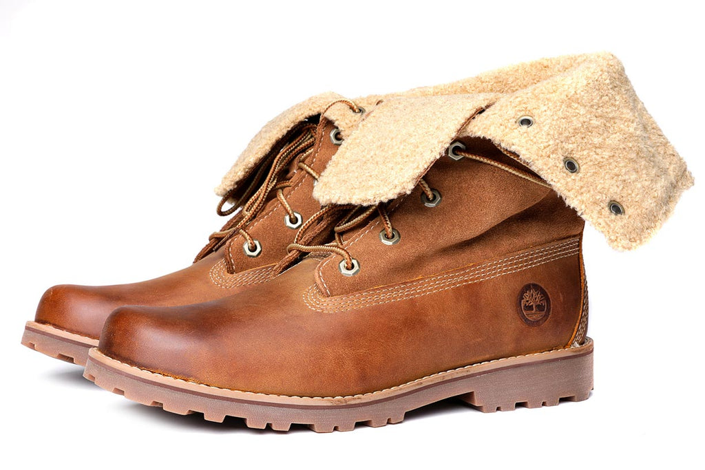 Timberland Women's 6 Inch Premium Shearling Boots 37 Brown Suede