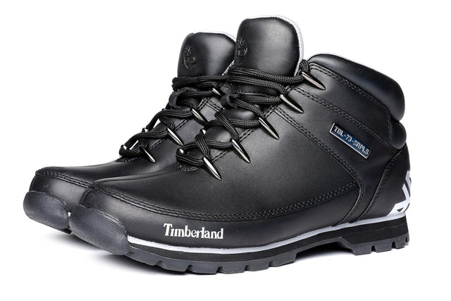 Timberland Men's Euro Sprint Hiker Waterproof Boots Black
