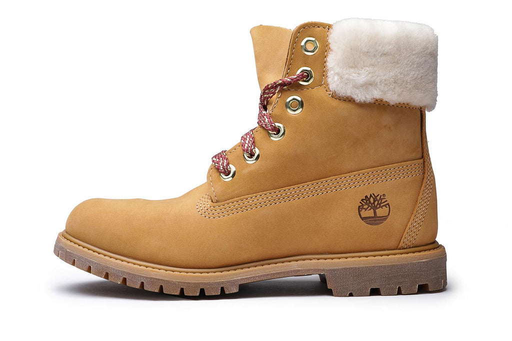 Timberland Women's 6-Inch Shearling Collar Premium Boots