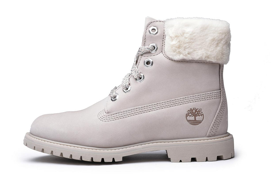 Timberland Women's 6-Inch Sherling Collar Premium Boots