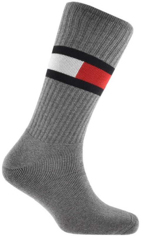 Copy of Tommy Jeans Flag Socks Middle Grey Melange