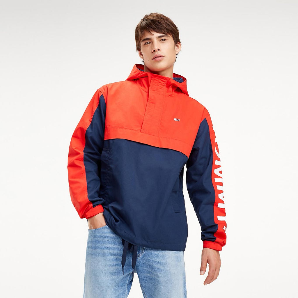 Tommy Jeans Color Blocked Popover Jacket Red DM0DM05978