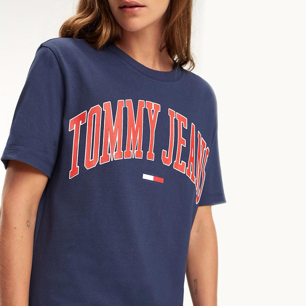 Tommy Jeans Collegiate Oversized Logo Women's T-shirt DW0DW05703