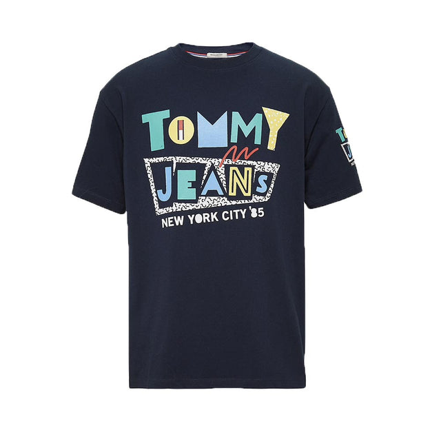 Tommy Jeans Retro Logo T-shirt black Iris DM0DM06086