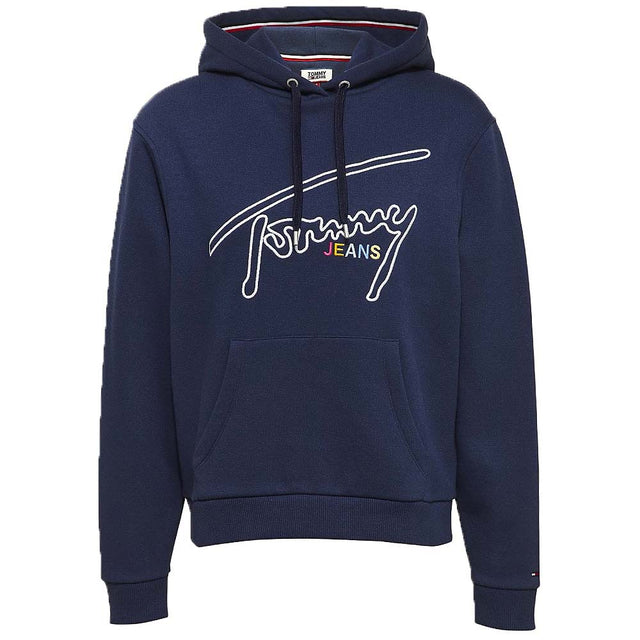 Tommy Jeans Signature Logo Fleece Hoody Black Iris DW0DW06130