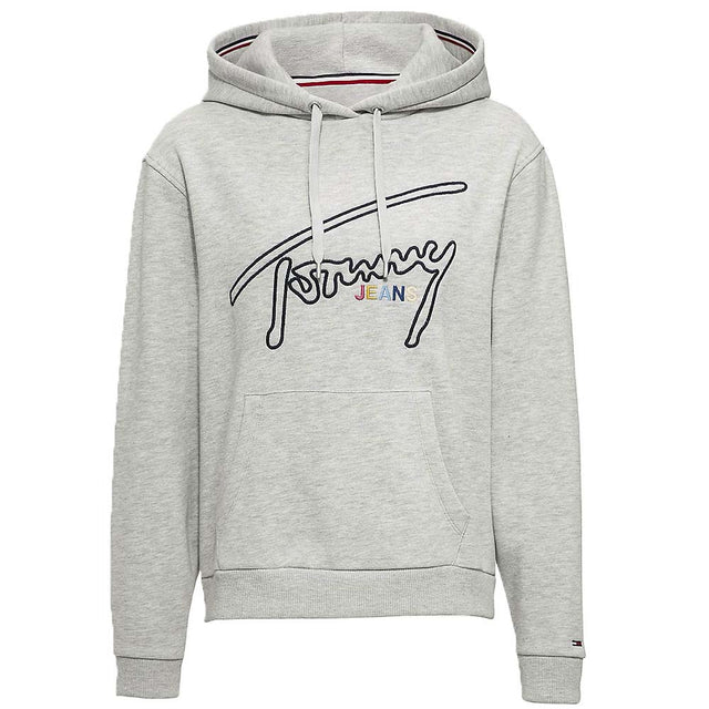 Tommy Jeans Signature Logo Fleece Hoody Grey DW0DW06130
