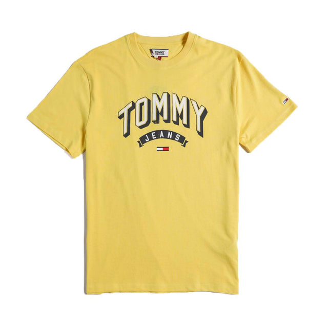 Tommy Jeans Essential 3D Logo Yellow T-shirt DM0DM07014