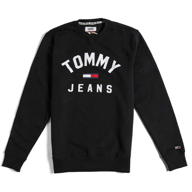 Tommy Jeans Essential Flag Logo Sweathirt Black DM0DM07024