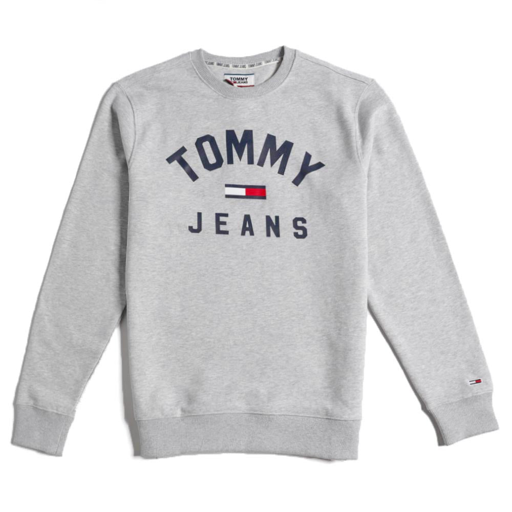 Tommy Jeans Essential Flag Logo Sweathirt Grey DM0DM07024