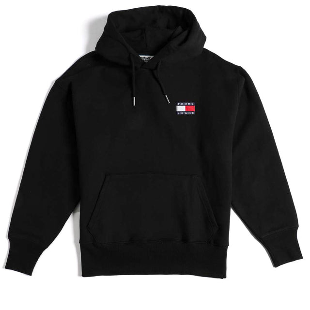 Tommy Jeans Flag Badge Black Hoodie DM0DM06593