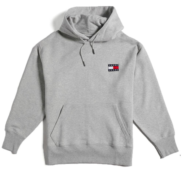 Tommy Jeans Flag Badge Grey Hoodie DM0DM06593