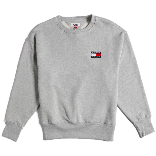 Tommy Jeans Badge Grey Sweatshirt DM0DM06592