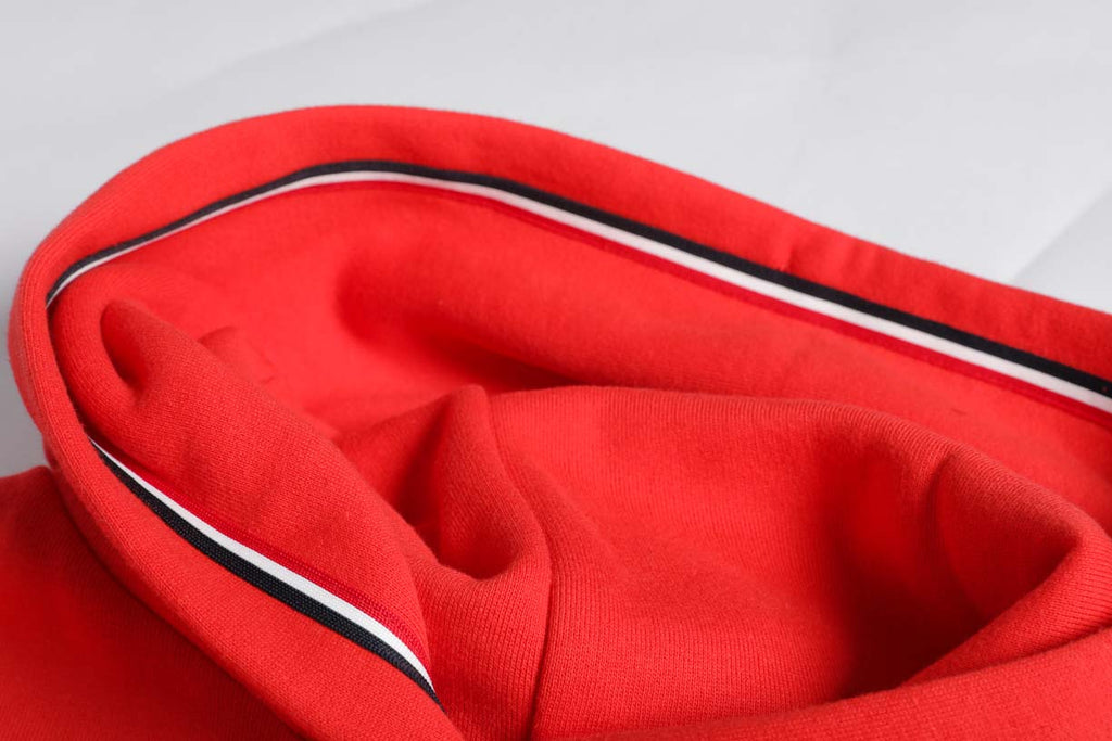 Tommy Jeans Signature Logo Fleece Hoody Flame Scarlet DW0DW06130