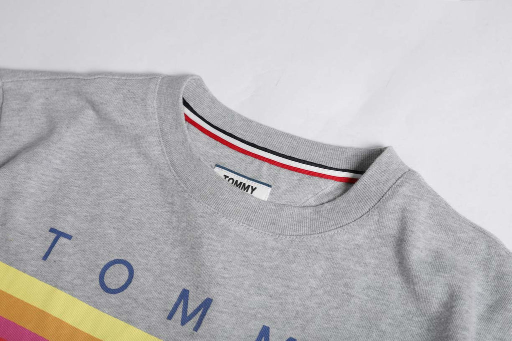 Tommy Jeans Tommy  Logo T-shirt Dress Grey DW0DW06267