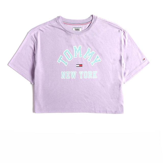 Tommy Jeans New York Logo Cropped T-shirt Lilac  DW0DW06275