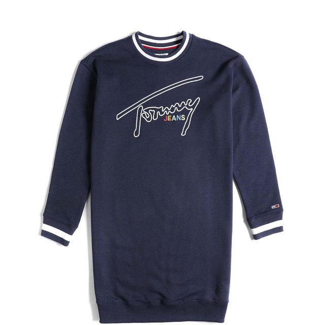 Tommy Jeans Retro Logo Sweatshirt Dress Black Iris DW0DW06170