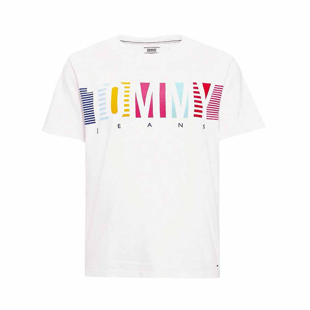 Tommy Jeans Multi Stripes Logo Women's T-shirt  DW0DW06223