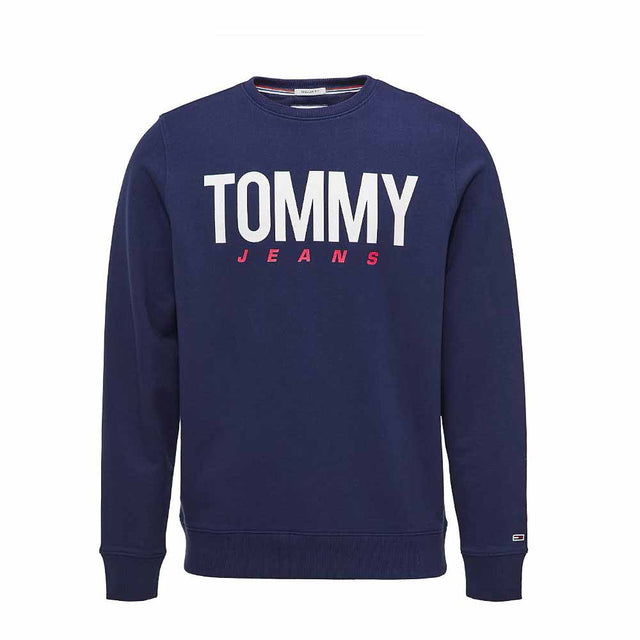 Tommy Jeans Essential Logo Crew Neck Sweatshirt Black Iris DM0DM06291