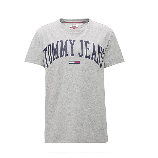 Tommy Jeans Collegiate Oversized Logo Women's T-shirt Grey DW0DW05703