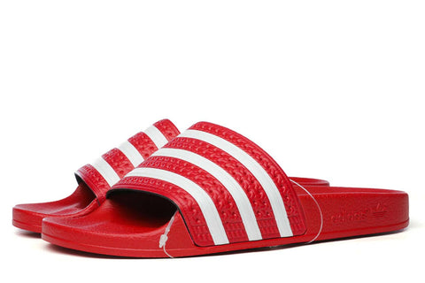 adidas Originals Adilette Slides Scarlet / White  288193
