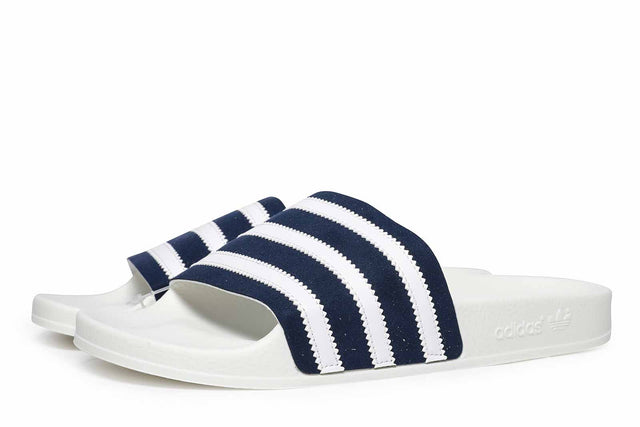 adidas Originals Adilette Slides White / Navy CG6436