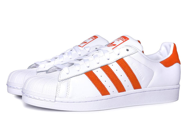 adidas Originals Superstar Sneakers Cloud  White / Orange EE4472