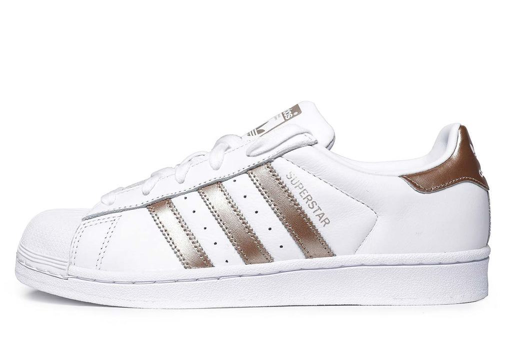 Women Adidas CG5463 Superstar Running shoes white gold sneakers