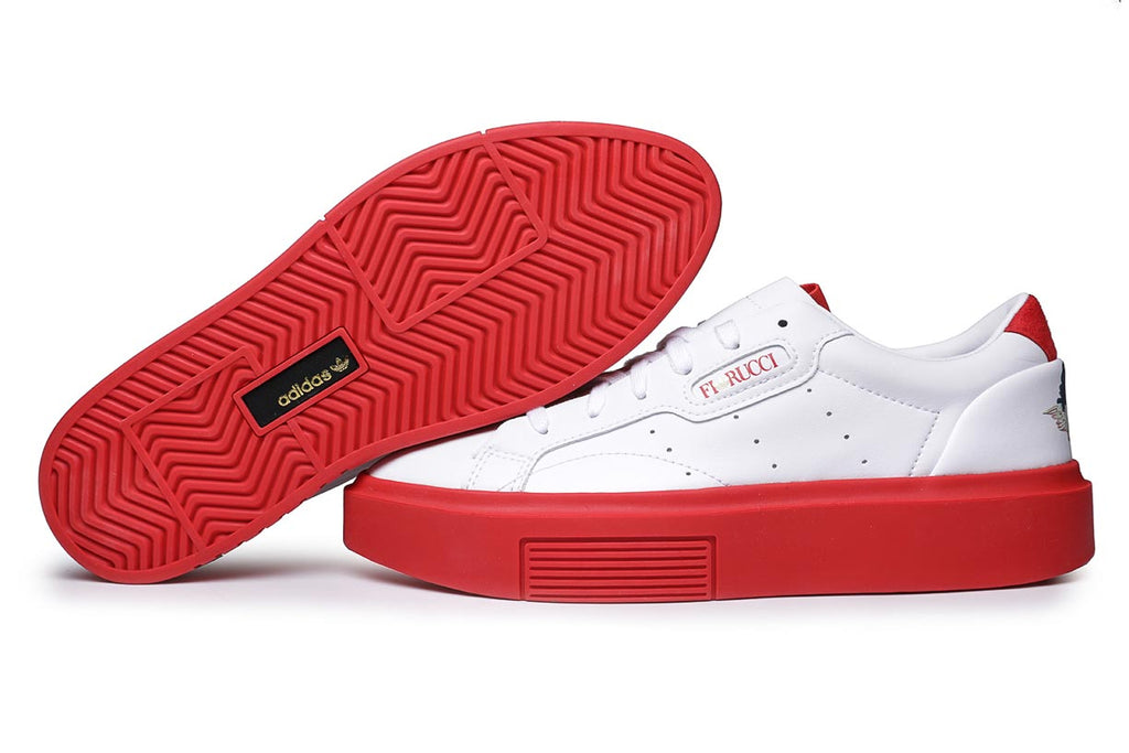 adidas Originals x Fiorucci Sleek Super Sneakers Core Cloud White / Red EE4719