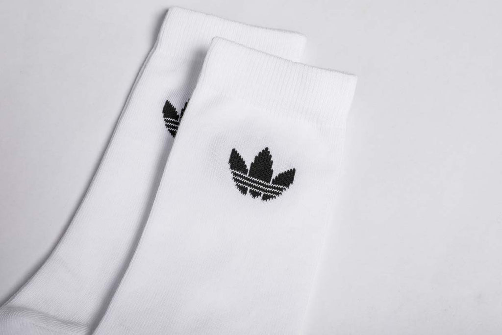 adidas Originals Thin Trefoil Crew Socks White DV1728 - 2 Pack