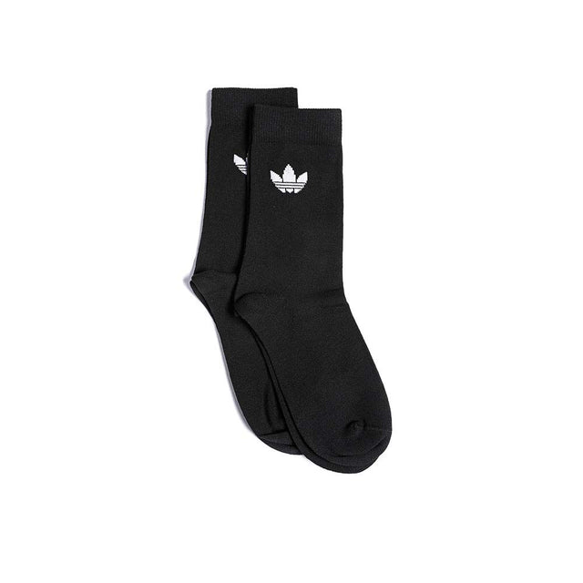 adidas Originals Thin Trefoil Crew Socks Black DV1729 - 2 Pack