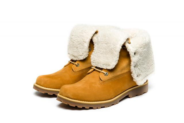 Timberland Women's 6-Inch Premium Shearling Boots Whey