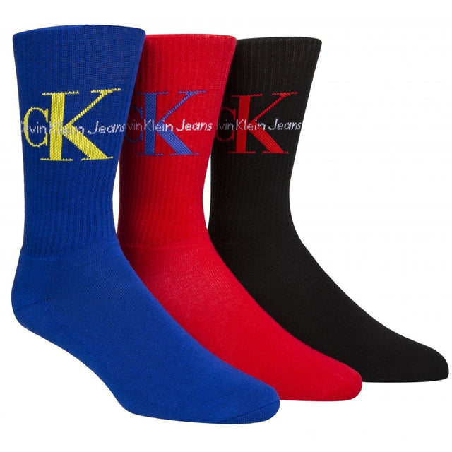 Calvin Klein Jeans Logo Sof Cotton Socks Gift Box Multicolor - 3 Pack