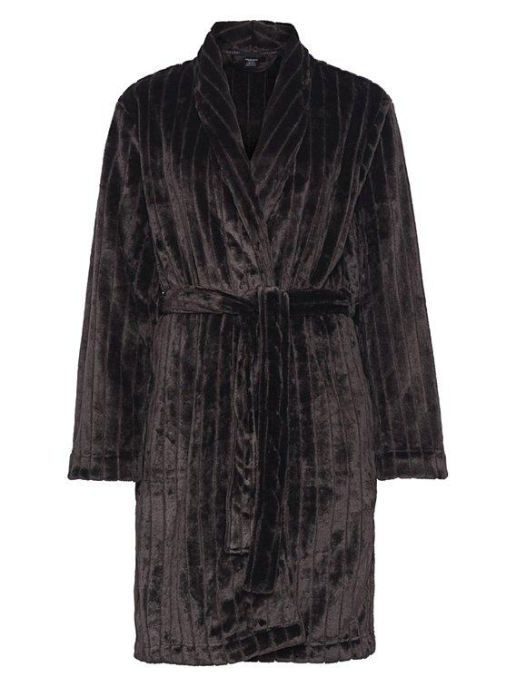 Calvin Klein Terry Robe Black