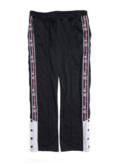 Champion Reverse Weave Long Snap Pants Black