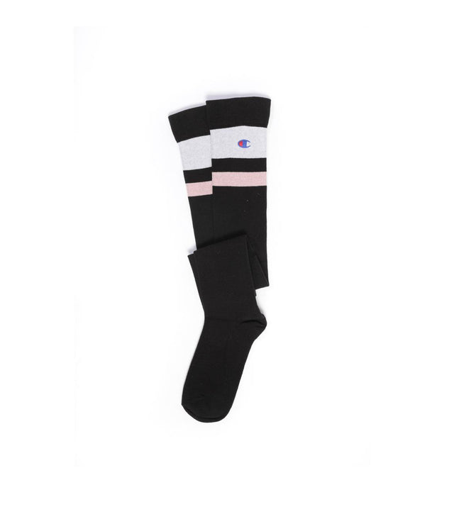 Champion Reverse Weave Tube Overknee Socks Black