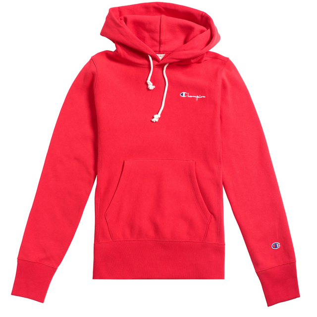 Champion Reverse Weave Small Script Logo W Hoodie Red