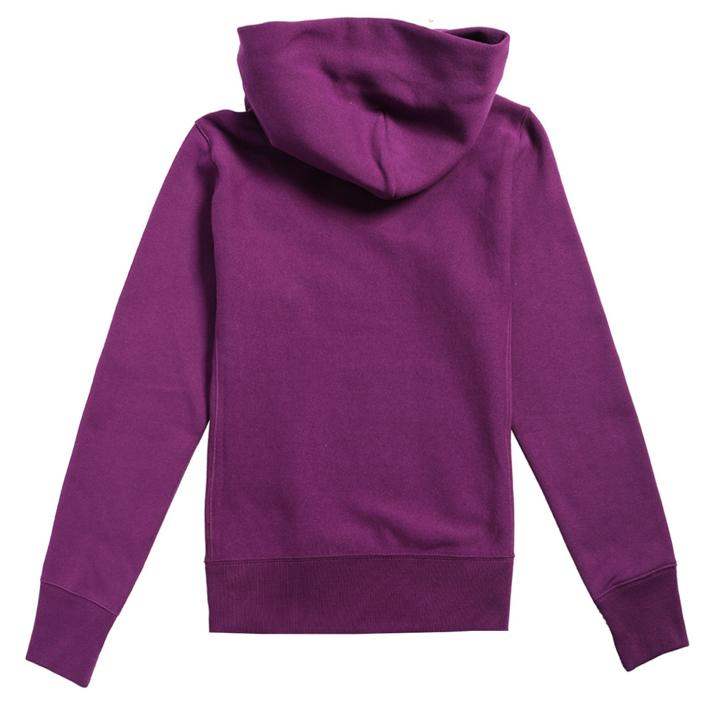 Champion Reverse Weave Small Script Logo W Hoodie Purple