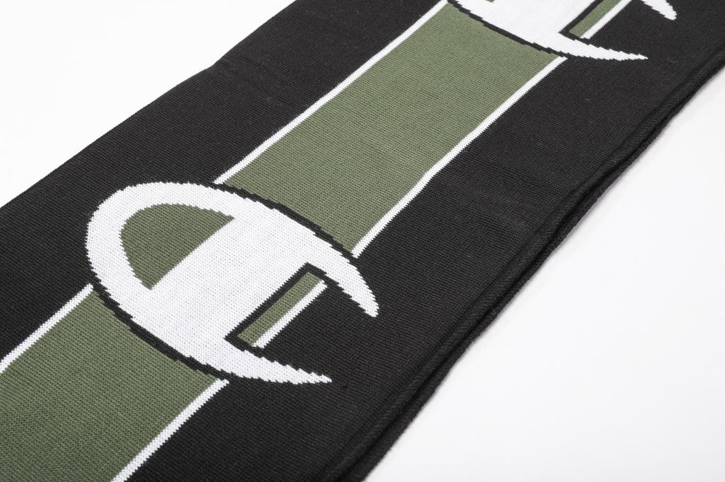 Champion Reverse Weave Knited Scarf Black