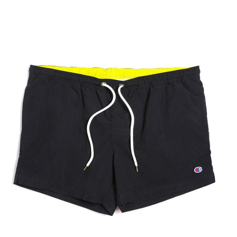 Champion Reverse Weave Beachshort Black / Fluoro Yellow  213090