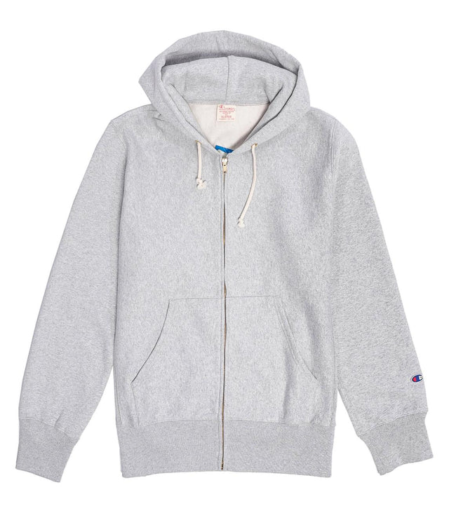 Champion Reverse Weave Full Zip Hoodie Grey