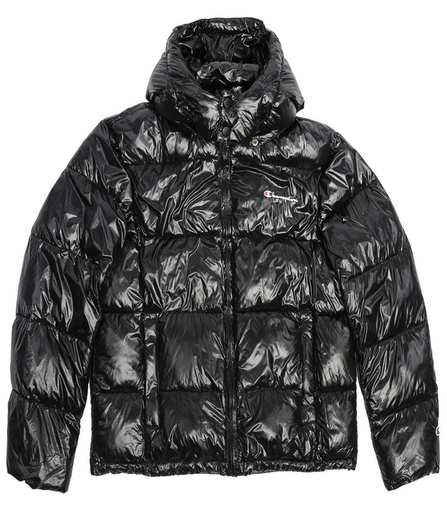 Champion Reverse Weave Hooded Jacket Black