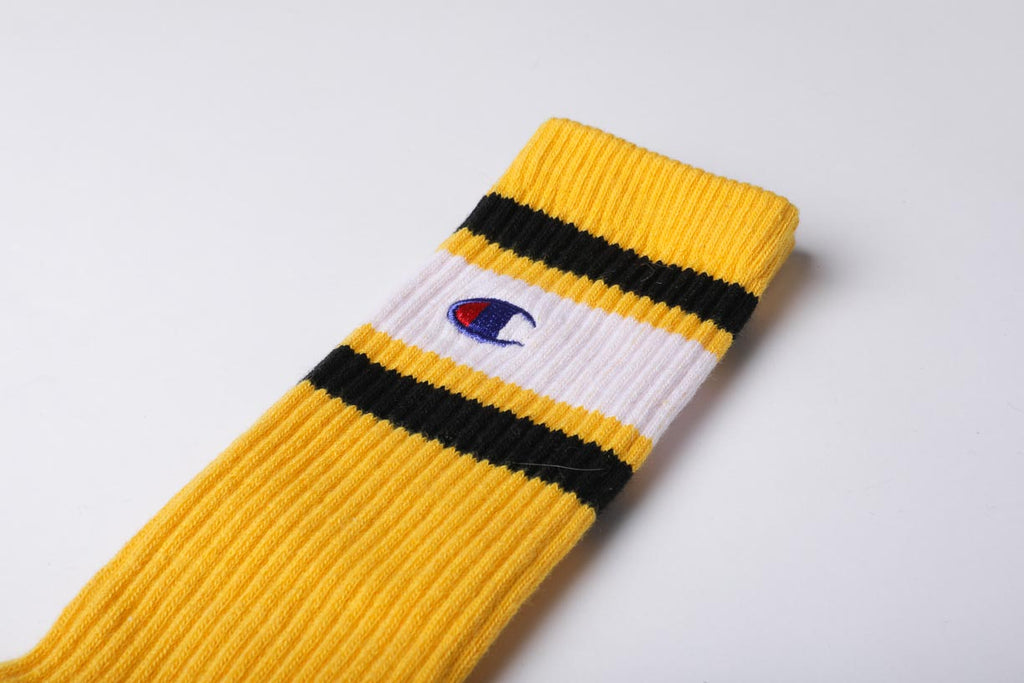 Champion Reverse Weave Color Block Socks Yellow