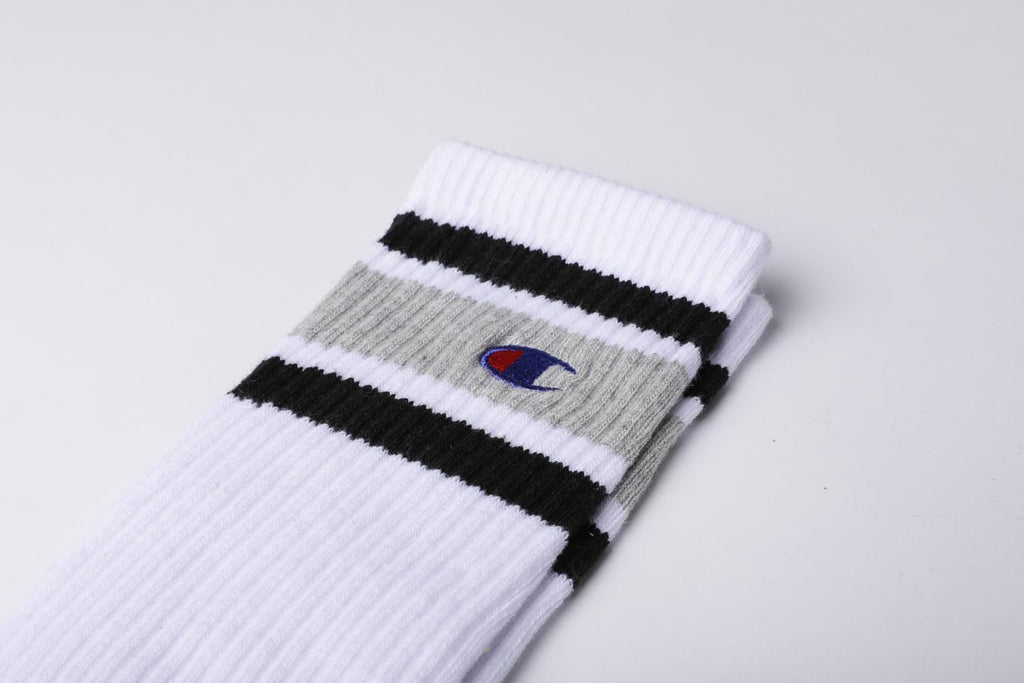 Champion Reverse Weave Color Block Socks White