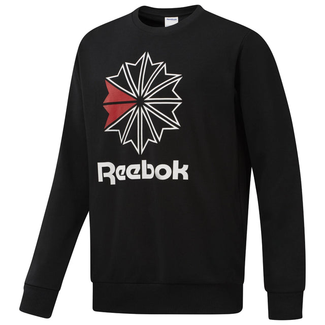 Reebok Classic French Terry Big Iconic Crewneck Black DM5161